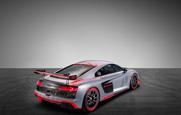 Audi a prezentat noua versiune R8 LMS GT4: versiunea de circuit oferă 495 CP și roți motrice spate - Poza 8