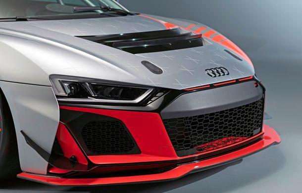 Audi a prezentat noua versiune R8 LMS GT4: versiunea de circuit oferă 495 CP și roți motrice spate - Poza 33
