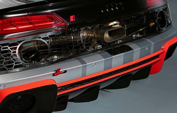 Audi a prezentat noua versiune R8 LMS GT4: versiunea de circuit oferă 495 CP și roți motrice spate - Poza 29