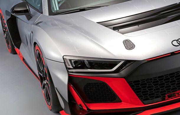 Audi a prezentat noua versiune R8 LMS GT4: versiunea de circuit oferă 495 CP și roți motrice spate - Poza 23