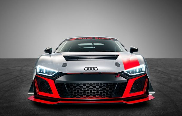Audi a prezentat noua versiune R8 LMS GT4: versiunea de circuit oferă 495 CP și roți motrice spate - Poza 4