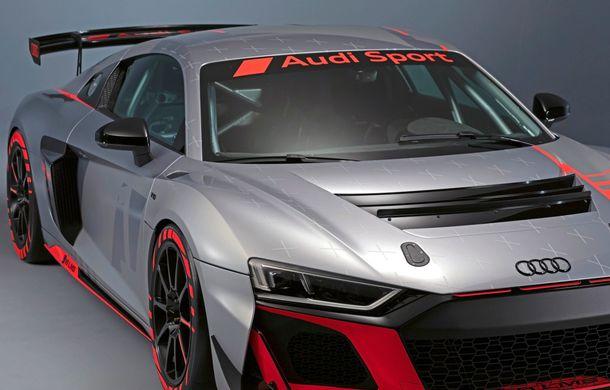 Audi a prezentat noua versiune R8 LMS GT4: versiunea de circuit oferă 495 CP și roți motrice spate - Poza 35