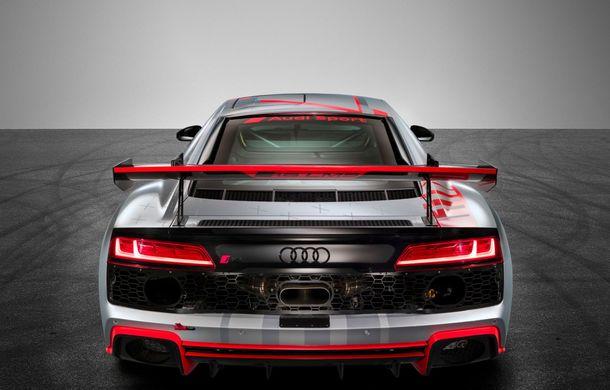 Audi a prezentat noua versiune R8 LMS GT4: versiunea de circuit oferă 495 CP și roți motrice spate - Poza 5