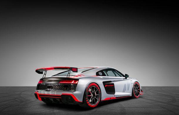 Audi a prezentat noua versiune R8 LMS GT4: versiunea de circuit oferă 495 CP și roți motrice spate - Poza 9