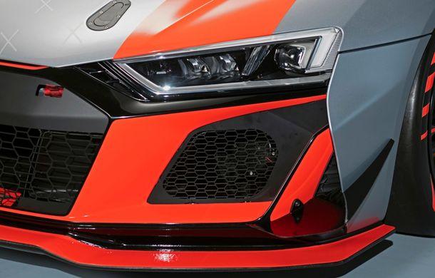 Audi a prezentat noua versiune R8 LMS GT4: versiunea de circuit oferă 495 CP și roți motrice spate - Poza 31