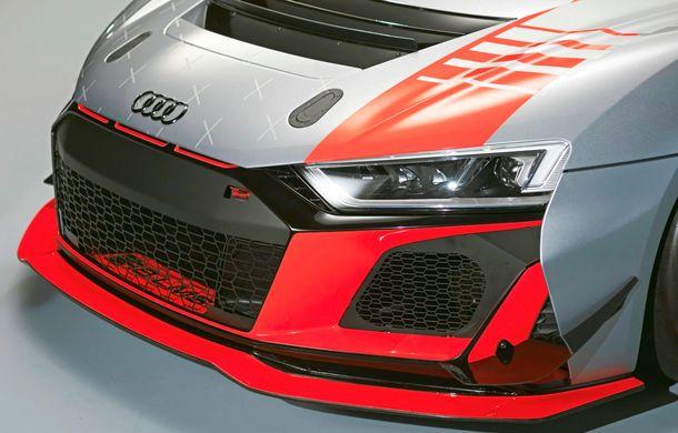 Audi a prezentat noua versiune R8 LMS GT4: versiunea de circuit oferă 495 CP și roți motrice spate - Poza 32