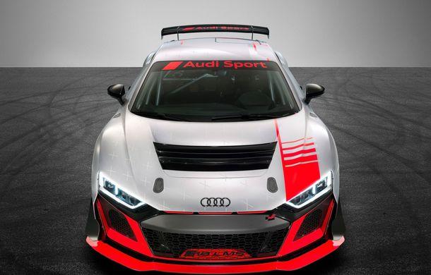 Audi a prezentat noua versiune R8 LMS GT4: versiunea de circuit oferă 495 CP și roți motrice spate - Poza 3