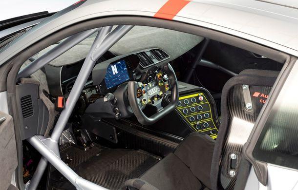 Audi a prezentat noua versiune R8 LMS GT4: versiunea de circuit oferă 495 CP și roți motrice spate - Poza 36