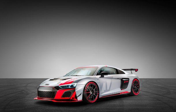 Audi a prezentat noua versiune R8 LMS GT4: versiunea de circuit oferă 495 CP și roți motrice spate - Poza 11