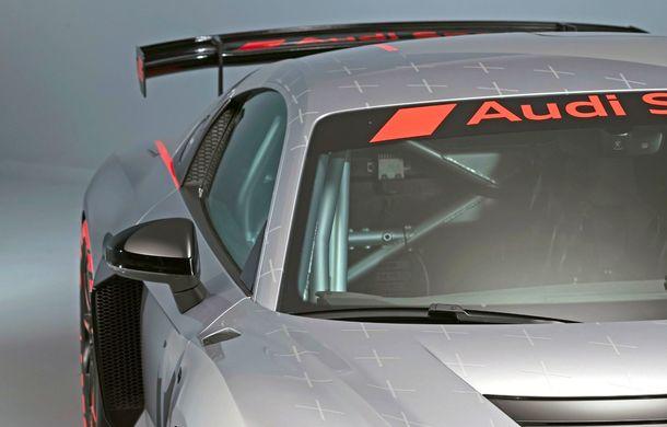 Audi a prezentat noua versiune R8 LMS GT4: versiunea de circuit oferă 495 CP și roți motrice spate - Poza 34