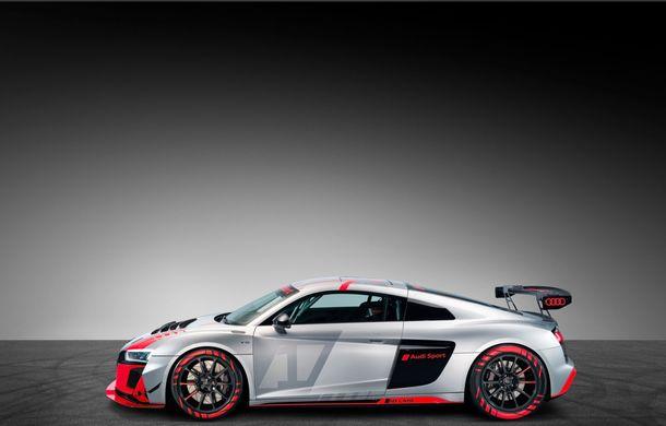 Audi a prezentat noua versiune R8 LMS GT4: versiunea de circuit oferă 495 CP și roți motrice spate - Poza 14