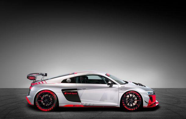 Audi a prezentat noua versiune R8 LMS GT4: versiunea de circuit oferă 495 CP și roți motrice spate - Poza 15