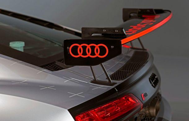 Audi a prezentat noua versiune R8 LMS GT4: versiunea de circuit oferă 495 CP și roți motrice spate - Poza 27