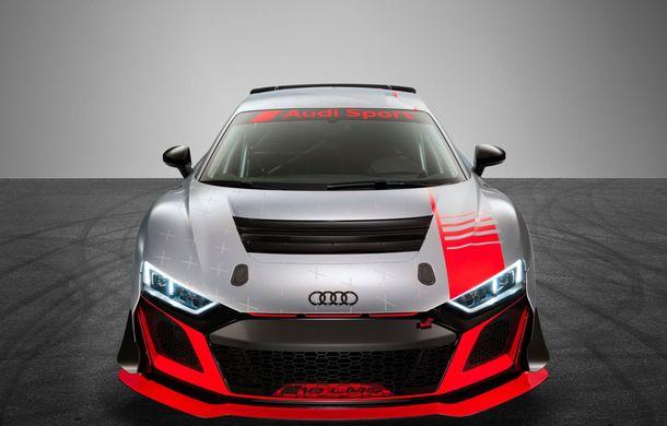 Audi a prezentat noua versiune R8 LMS GT4: versiunea de circuit oferă 495 CP și roți motrice spate - Poza 2
