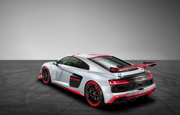 Audi a prezentat noua versiune R8 LMS GT4: versiunea de circuit oferă 495 CP și roți motrice spate - Poza 19