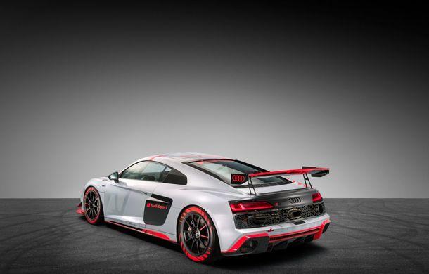 Audi a prezentat noua versiune R8 LMS GT4: versiunea de circuit oferă 495 CP și roți motrice spate - Poza 17