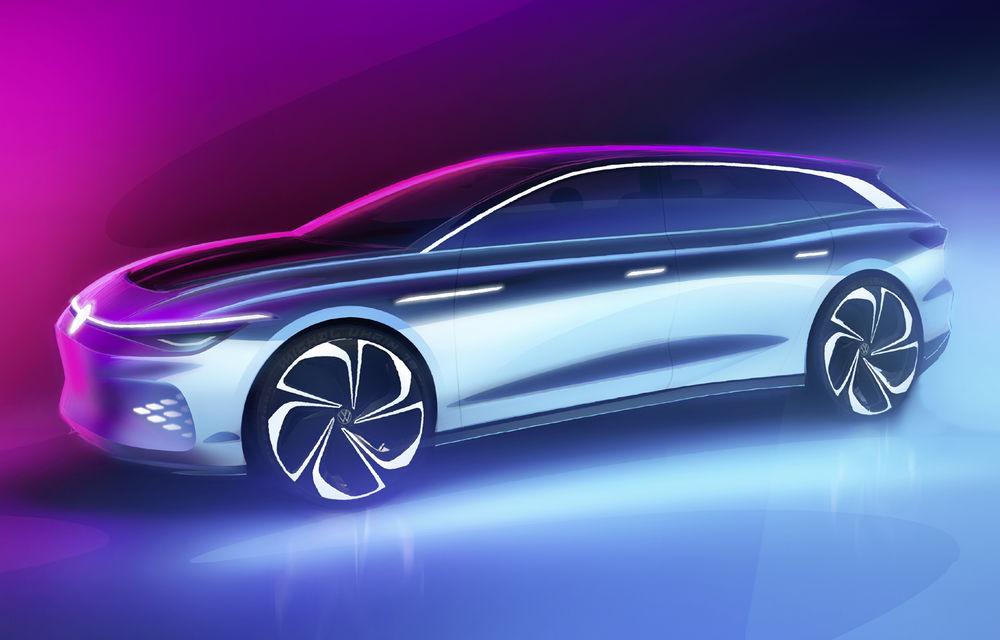 Volkswagen anunță un nou concept electric: ID Space Vizzion este un break cu autonomie de 590 de kilometri care va fi prezentat în 19 noiembrie - Poza 2