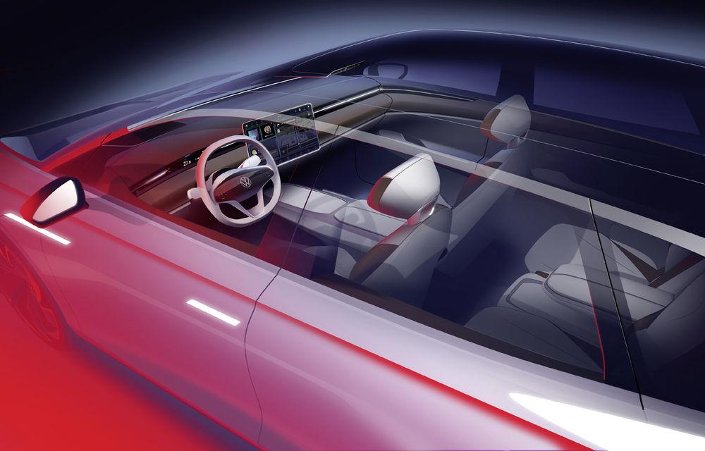 Volkswagen anunță un nou concept electric: ID Space Vizzion este un break cu autonomie de 590 de kilometri care va fi prezentat în 19 noiembrie - Poza 4