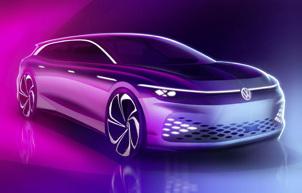 Volkswagen anunță un nou concept electric: ID Space Vizzion este un break cu autonomie de 590 de kilometri care va fi prezentat în 19 noiembrie - Poza 1