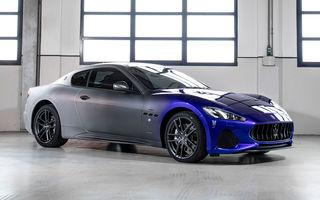 Maserati a încheiat producția actualului GranTurismo: ultimul exemplar se numește Zeda și are o caroserie vopsită în trei nuanțe