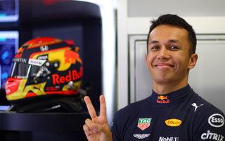 Red Bull a definitivat linia de piloți pentru 2020: Alexander Albon va rămâne coechipierul lui Max Verstappen