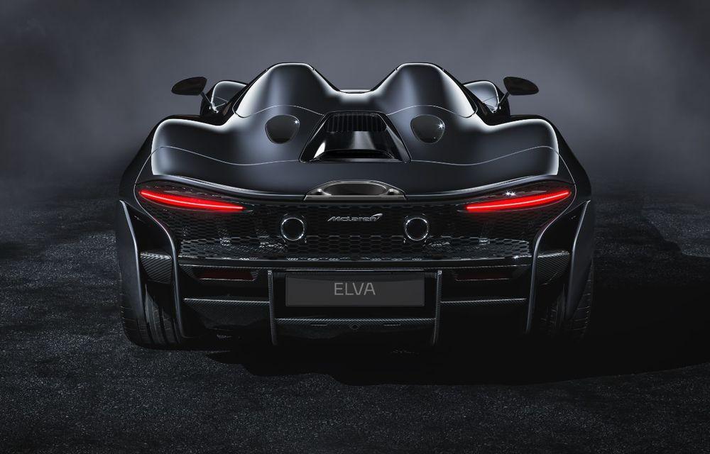McLaren a prezentat noul hypercar Elva: motor V8 cu 815 cai putere, 0-200 km/h în 6.7 secunde și producție limitată la 399 de unități - Poza 5