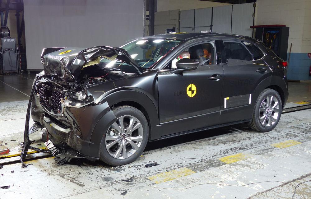 Mazda CX-30 impresionează în testele Euro NCAP: 5 stele și calificativ 99% pentru protecția adulților. Opel Corsa a primit doar 4 stele - Poza 1
