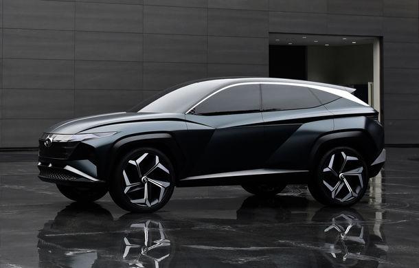 Hyundai a dezvăluit Vision T Concept: SUV-ul plug-in hybrid anticipează designul viitoarelor modele ale constructorului - Poza 1