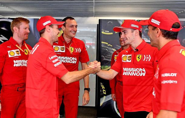 """Ferrari susține că a clarificat lucrurile între Vettel și Leclerc după acroșajul din Brazilia: """"Singurul lucru care contează este ca Ferrari să câștige"""" - Poza 1"""