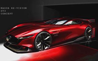 Prima schiță oficială cu viitorul Mazda RX-Vision GT3 Concept: prototipul virtual va fi prezentat în 2020