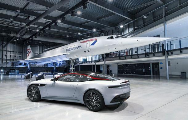 Aston Martin DBS Superleggera Concorde: ediție specială care marchează 50 de ani de la primul zbor al supersonicului de pasageri - Poza 2
