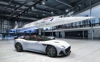 Aston Martin DBS Superleggera Concorde: ediție specială care marchează 50 de ani de la primul zbor al supersonicului de pasageri
