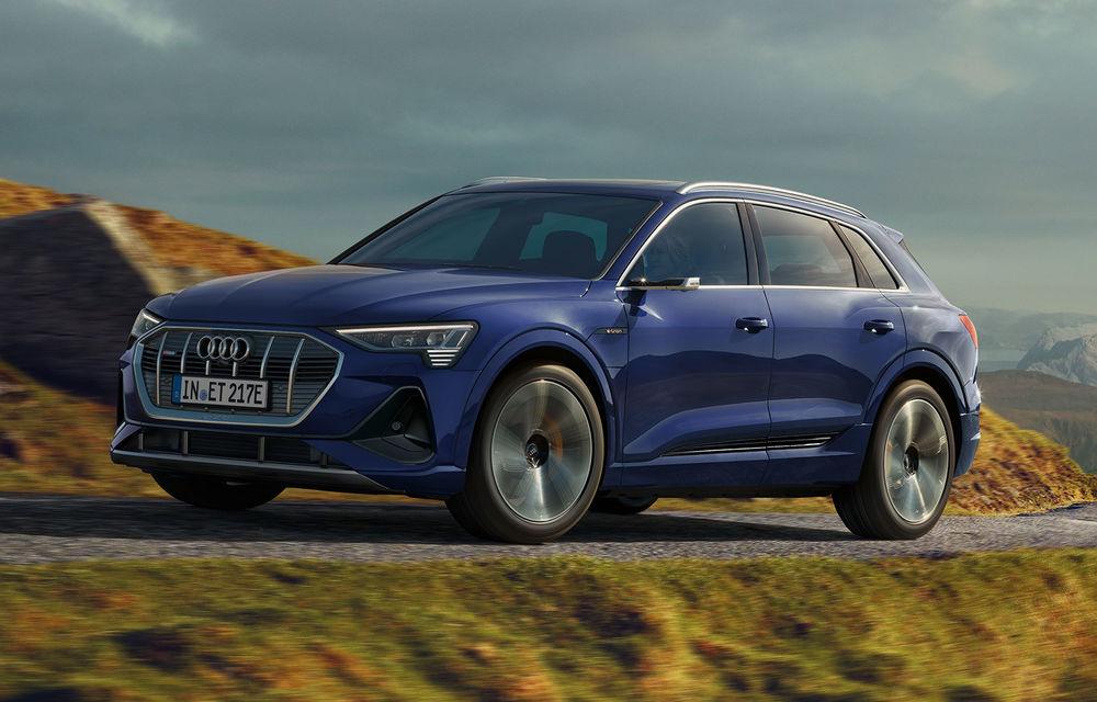 Îmbunătățiri pentru SUV-ul electric Audi e-tron: autonomie mai mare și pachet exterior S Line - Poza 1