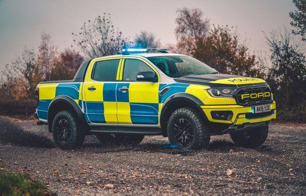 Pentru urmăriri în off-road: pick-up-ul sport Ford Ranger Raptor intră în flota poliției din Marea Britanie - Poza 6