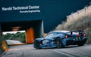 Hypercar-ul electric Rimac C_Two, testat la Centrul Tehnic Nardo deținut de Porsche: versiunea de serie va fi prezentată în martie
