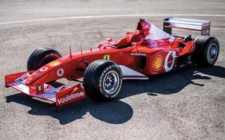 Monopostul Ferrari pilotat de Michael Schumacher în sezonul din 2002 a fost vândut la licitație: suma încasată trece de 6.6 milioane de dolari