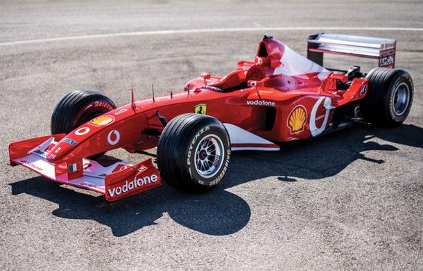 Monopostul Ferrari pilotat de Michael Schumacher în sezonul din 2002 a fost vândut la licitație: suma încasată trece de 6.6 milioane de dolari - Poza 1