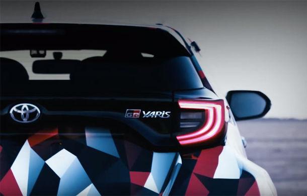 Primul teaser video cu Toyota Yaris GR-4: Hot Hatch-ul inspirat de modelul din Campionatul Mondial de Raliuri va avea tracțiune integrală - Poza 1
