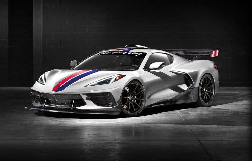 Hennessey pregătește un pachet de performanță pentru noul Corvette C8 Stingray: tunerul american își propune să scoată 1.200 CP din motorul V8 - Poza 1