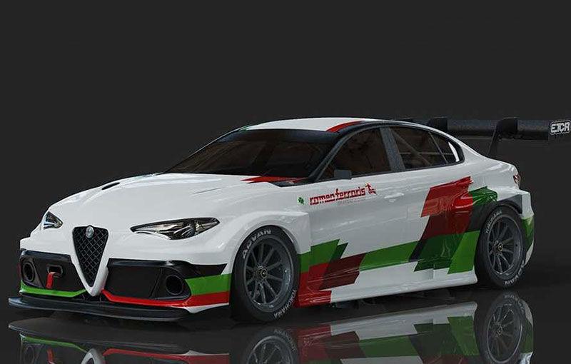 Alfa Romeo Giulia va primi o versiune electrică de circuit: modelul va concura în viitorul sezon Electric TCR - Poza 1