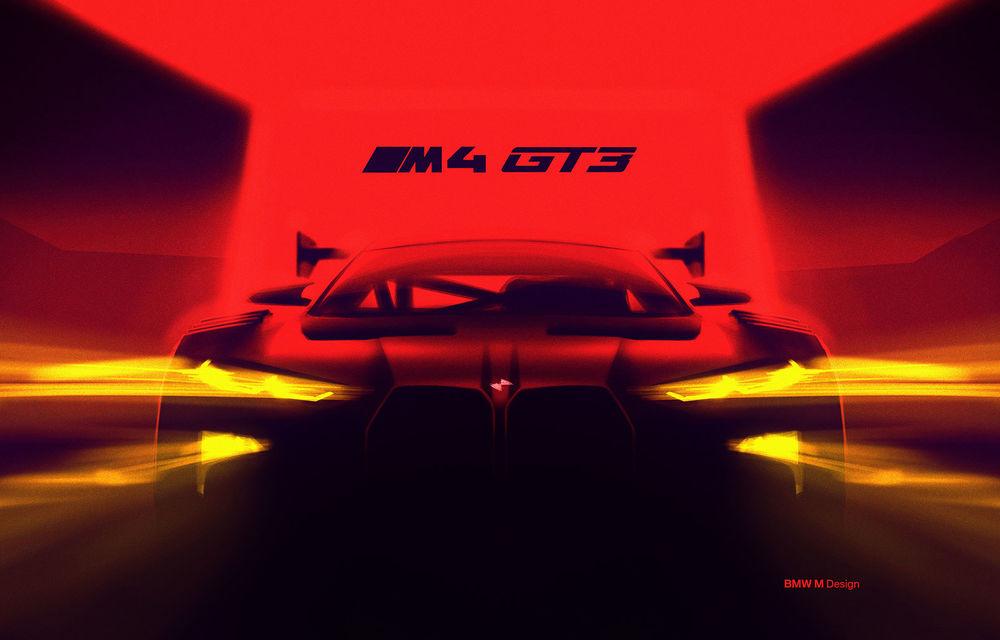 Primul teaser cu viitorul BMW M4 GT3: modelul de competiții va fi disponibil din 2022 - Poza 1