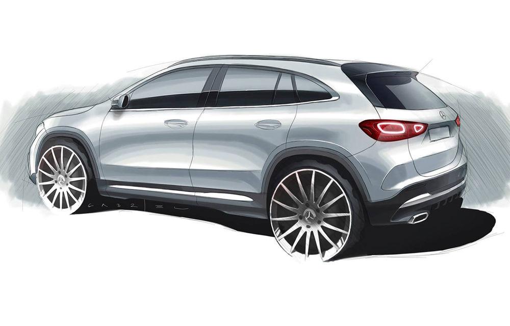 Prima schiță oficială cu Mercedes-Benz GLA: noul SUV compact va fi prezentat în 11 decembrie - Poza 1