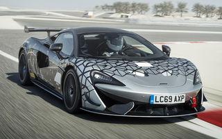 McLaren prezintă 620R: versiunea de stradă a modelului de curse 570S GT4 oferă 620 de cai putere