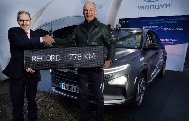 Hyundai a înregistrat un nou record de autonomie cu modelul electric alimentat cu hidrogen Nexo: 778 de kilometri - Poza 1