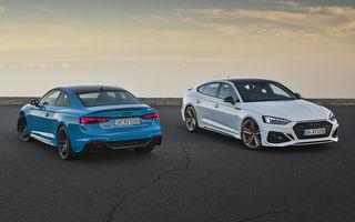 Îmbunătățiri pentru Audi RS5 Coupe și RS5 Sportback: cele două modele primesc o actualizare de design și tehnologii noi pentru interior