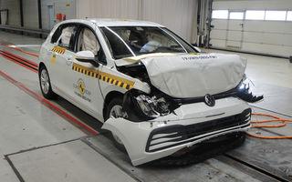 Teste Euro NCAP: 5 stele pentru Volkswagen Golf, Ford Puma, Nissan Juke și Audi Q8, 3 stele pentru Volkswagen Up!, Skoda Citigo și Seat Mii