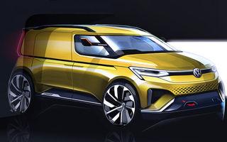 Volkswagen a publicat primele schițe cu viitorul Caddy: utilitara va fi prezentată în 2020