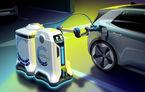 Volkswagen prezintă un robot mobil cu baterii care încarcă mașinile electrice: concept ideal pentru zone fără stații de încărcare