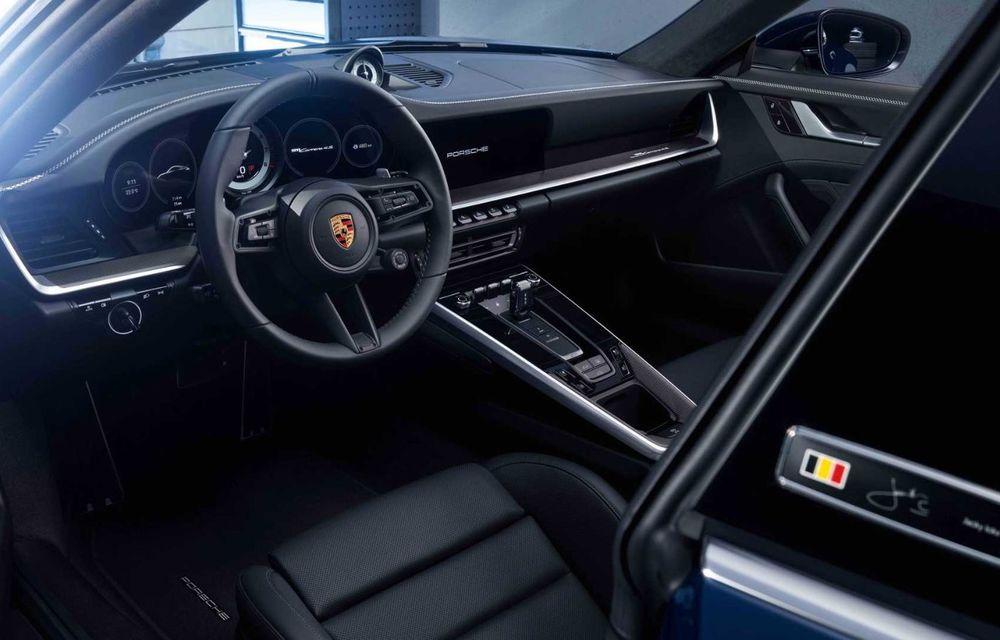 Porsche 911 Belgian Legend: ediția specială a fost gândită pentru aniversarea celor 75 de ani ai pilotului Jacky Ickx - Poza 5