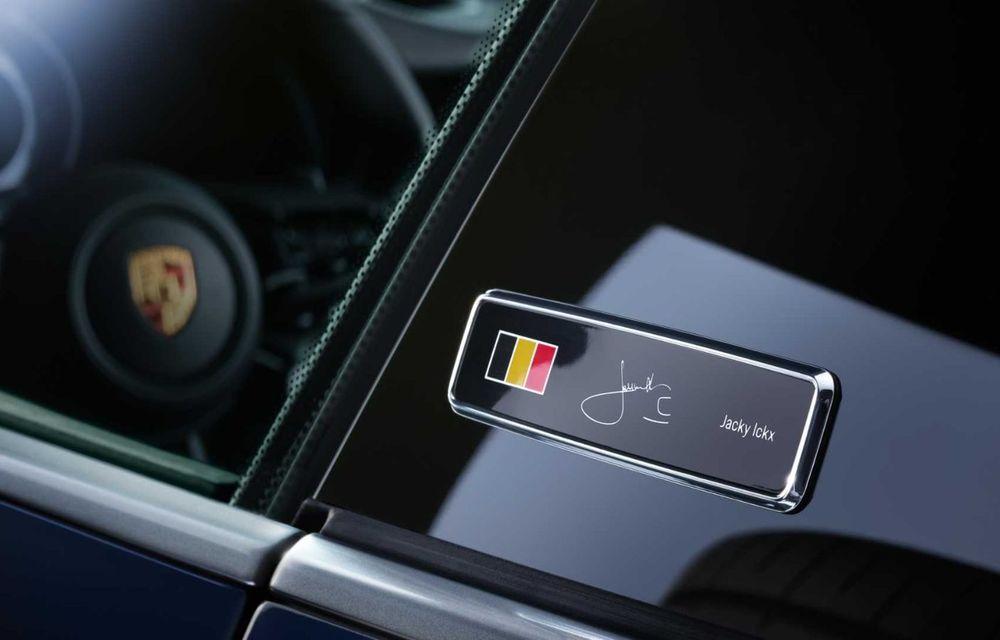 Porsche 911 Belgian Legend: ediția specială a fost gândită pentru aniversarea celor 75 de ani ai pilotului Jacky Ickx - Poza 4